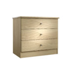 Cara Bedside 3 Drawer Wide Chest